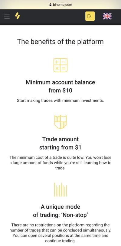 Binomo, una plataforma de trading que brinda servicios de comercio y oportunidad de generar ingresos