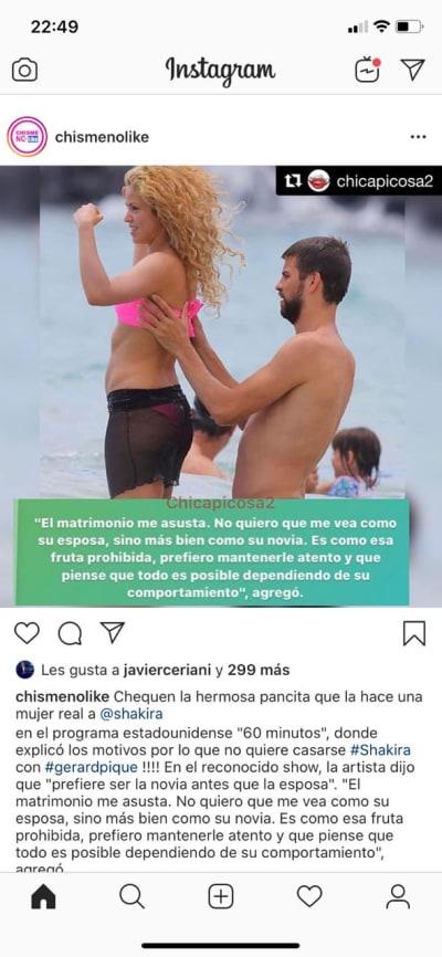 Shakira celulitis Piqué