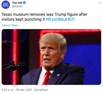 figura cera Trump