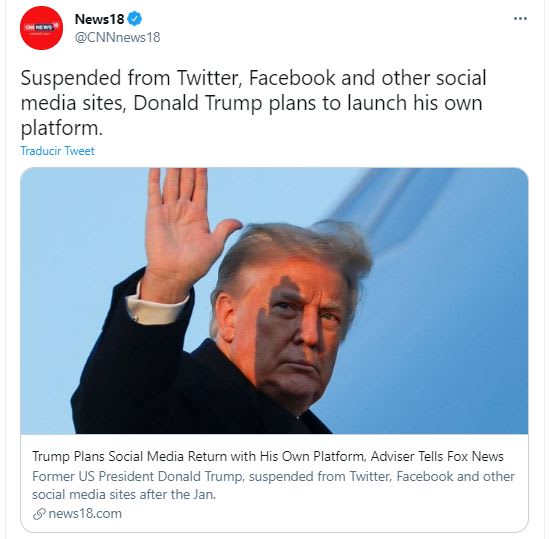 Trump redes sociales