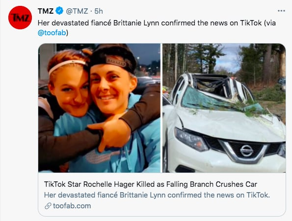 Rochelle Hager muere estrella de TikTok