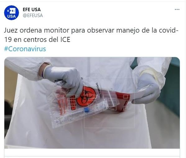 Juez monitor coronavirus ICE