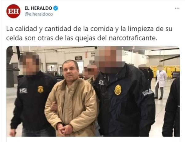 Joaquín El Chapo Guzmán denuncia condiciones inhumanas prisión 2