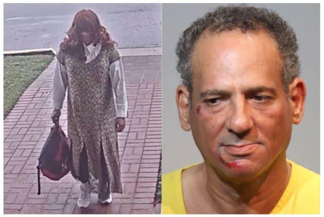 Hispano asalta banco disfrazado de mujer y huye en una patrulla