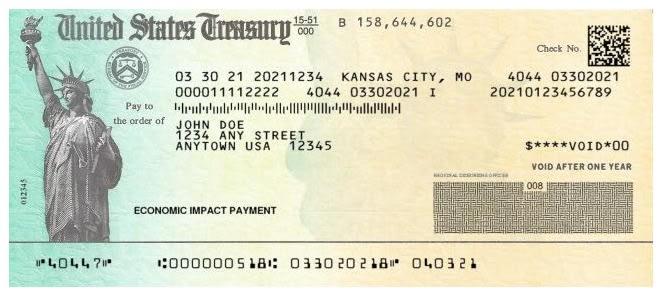 Cheque Papel IRS, Tarjeta EIP