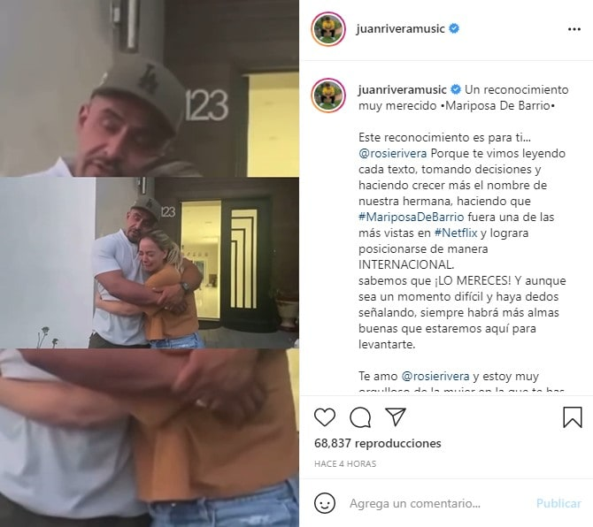 Juan Rivera sorpresa: Abrazo de hermanos