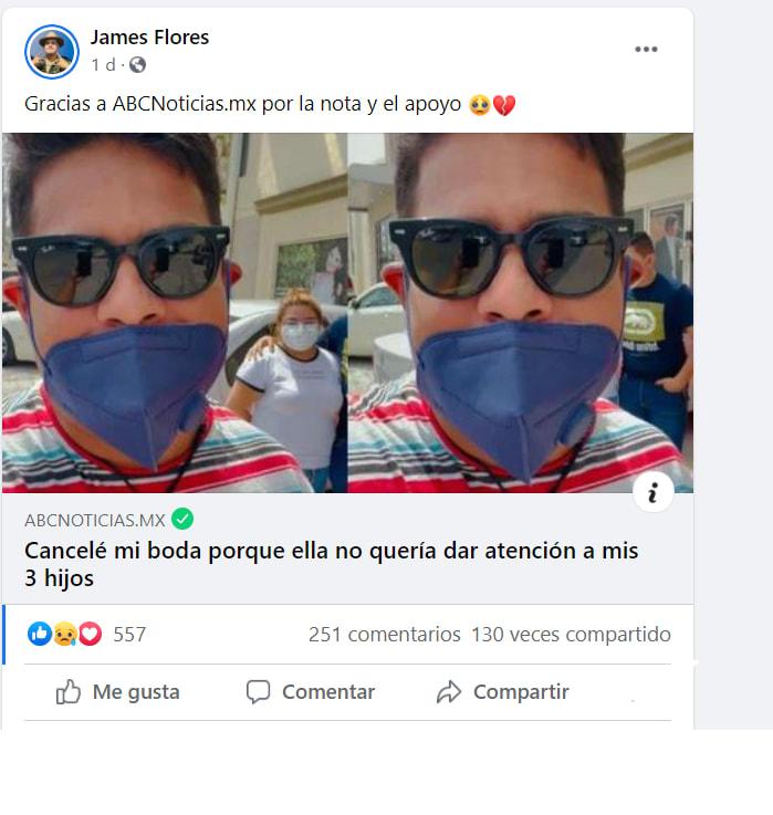 hombre cancela matrimonio hijos: La historia de James Flores