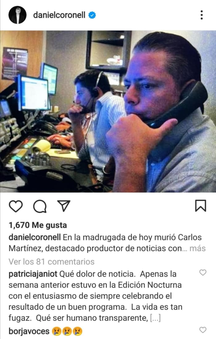Muere productor de noticias