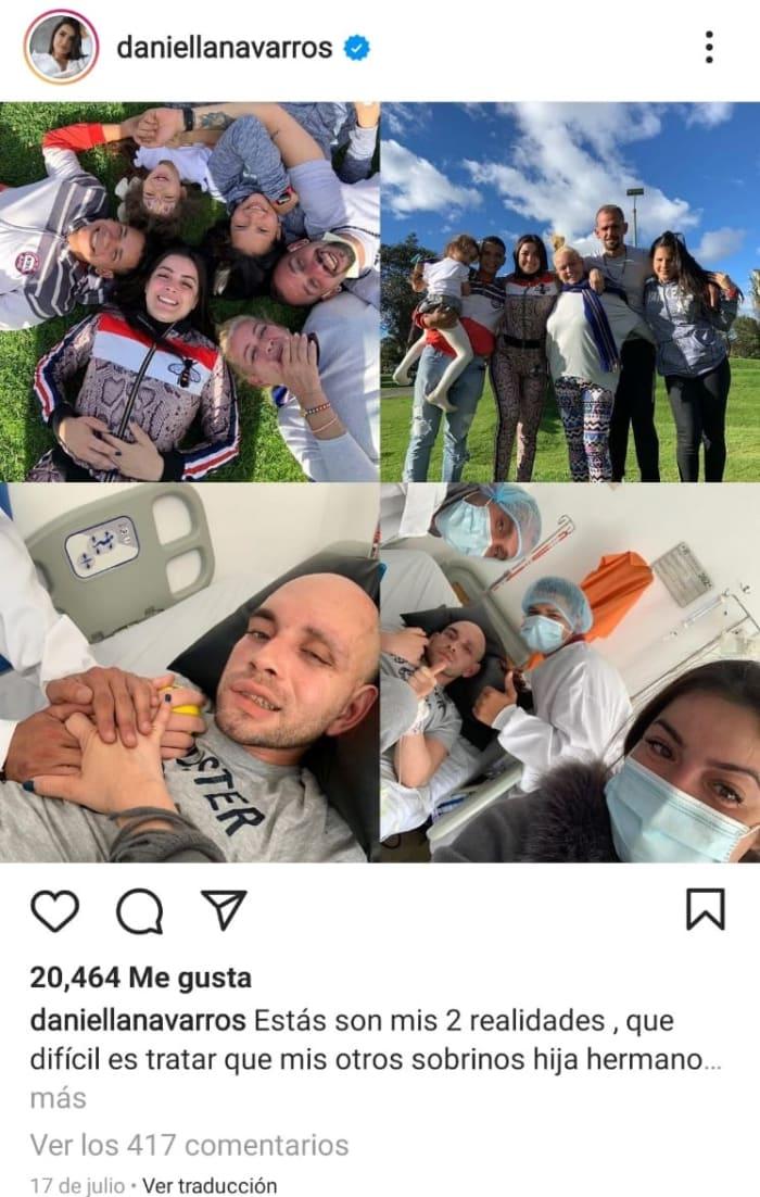 Muere sobrino de Daniela Navarro