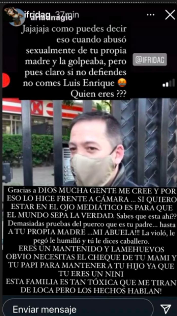 Luis Enrique Guzmán acusó a su sobrina (IG)