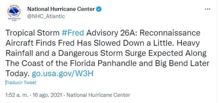 tormenta tropical Fred