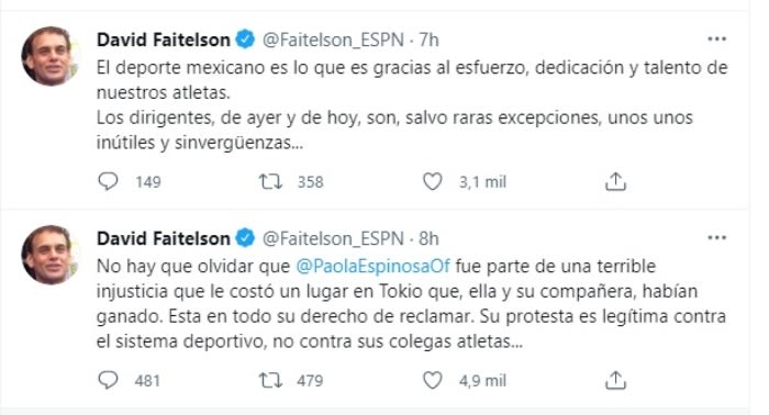 David Faitelson la defiende