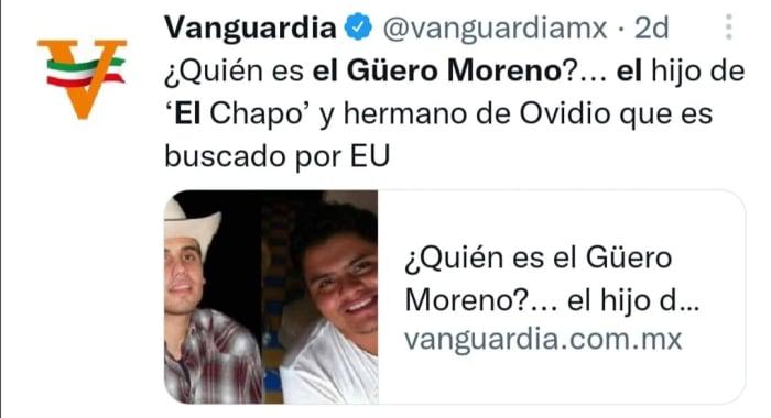 Hijo del Chapo Guzmán