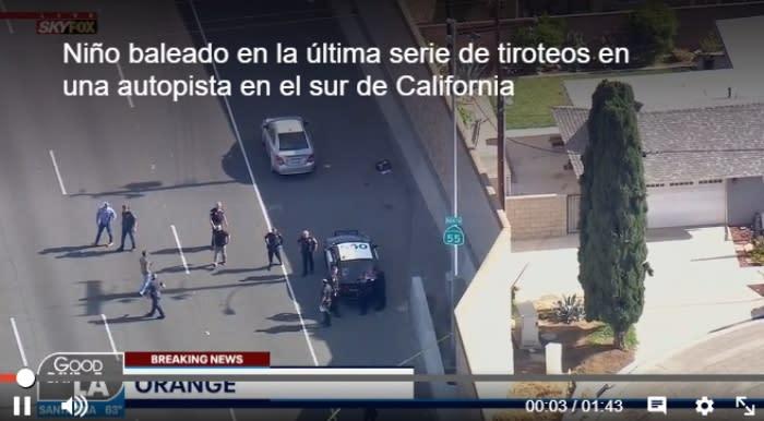 Niños conducen padre asesinado: Menor muere en tiroteo en autopista