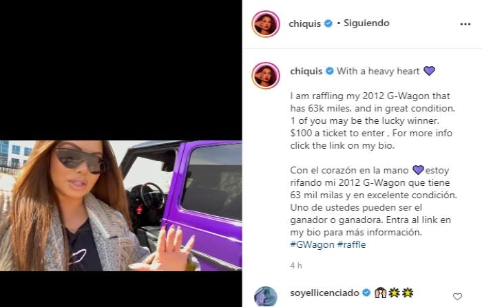 Running out of money? Chiquis Rivera raffles her truck Daughter of Jenni Rivera