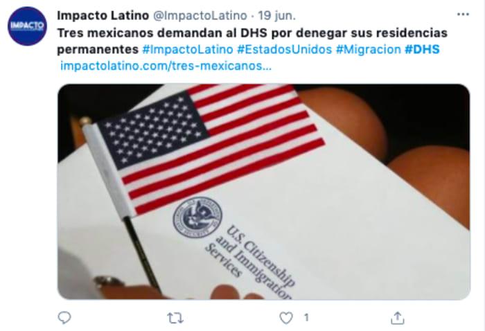 Los inmigrantes obtuvieron una visa de turista