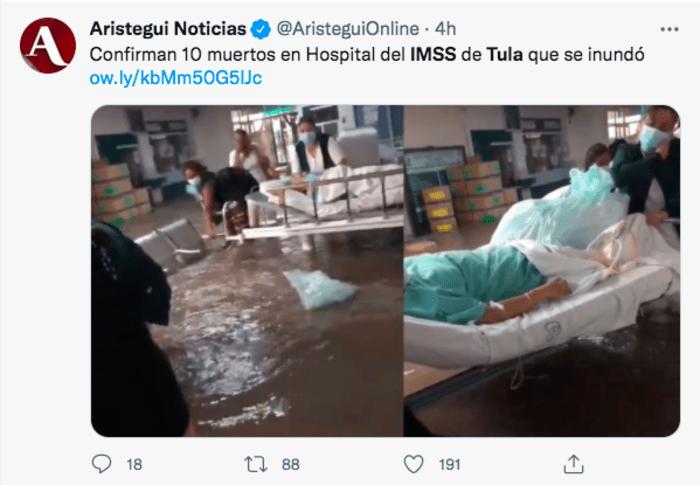 Tula hospital flood: AMLO in mourning
