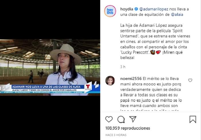 Le dicen a Adamari López que las clases de equitación de Alaïa eran de Toni Costa