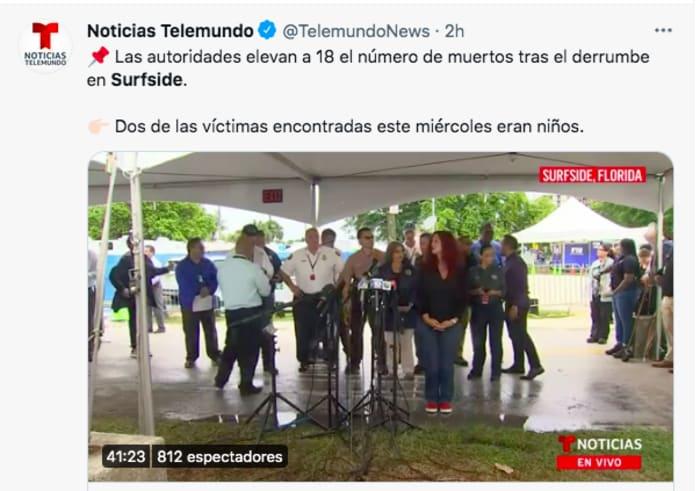 topos mexicanos edificio Miami: Se preparan para el rescate