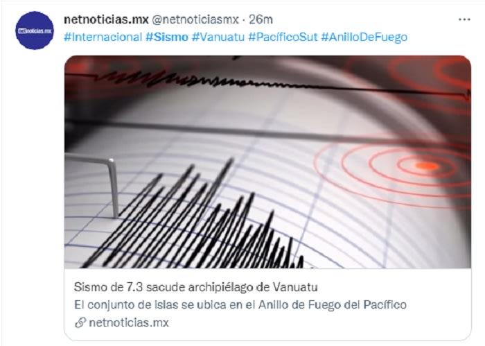 Sismo Perú epicentro Brasil: Sismos de 7.3 y 5.9 sacuden Vanuatu en el Pacífico Sur y el norte de Brasil