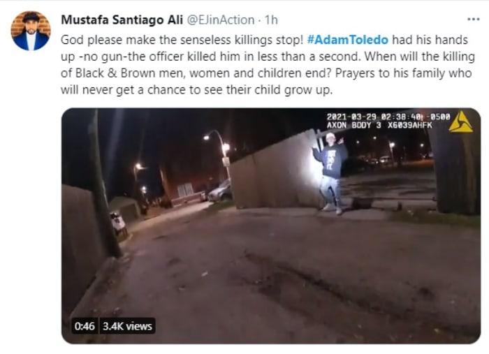Video Adam Toledo, Policía Chicago