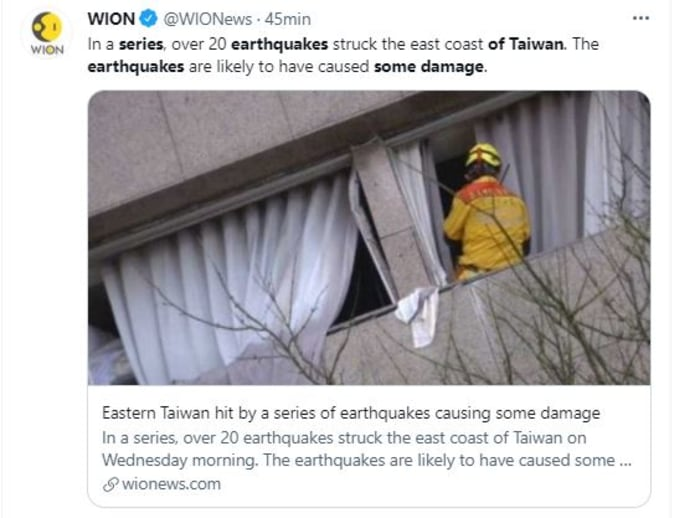 serie de 22 sismos