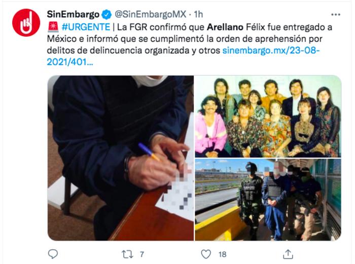 "Judgment Eduardo Arellano Félix: Arrested again ""The doctor"""