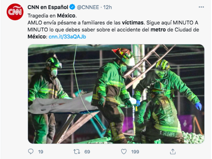 víctimas metro México