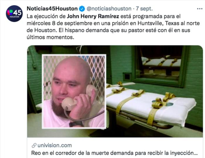 John Henry Ramírez ejecutado: Su última voluntad