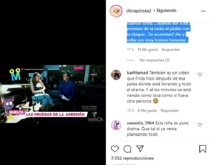 Se filtran fotos y audios de la ocasión en que Frida Sofía se peleó a golpes con Alejandra Guzmán