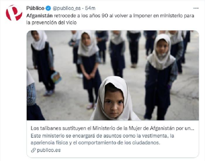 Se imponen restricciones a mujeres en Afganistán