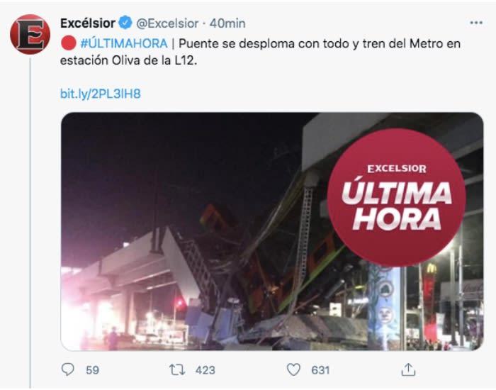 puente colapsa metro México