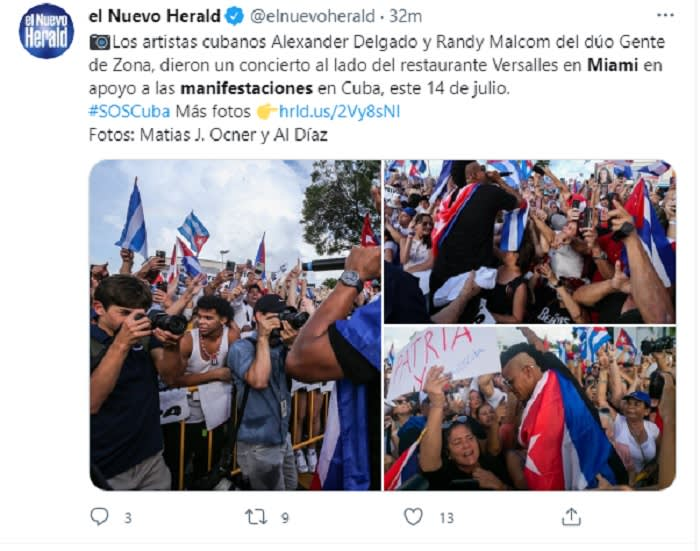 Miami protesters block highway in support of Cubans