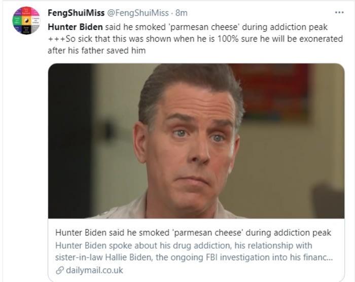 Hijo de Biden revela en su libro su lucha contra el abuso de drogas Hunter