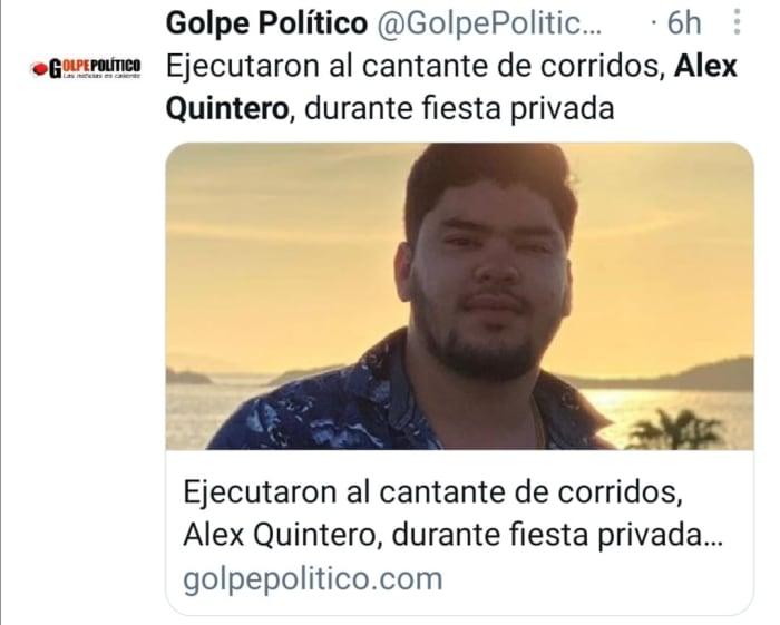 muere alex quintero