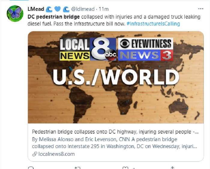 Culpan al alcalde del colapso del puente peatonal