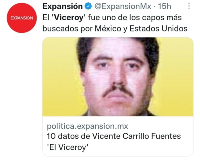 Vicente Carrillo sentenced