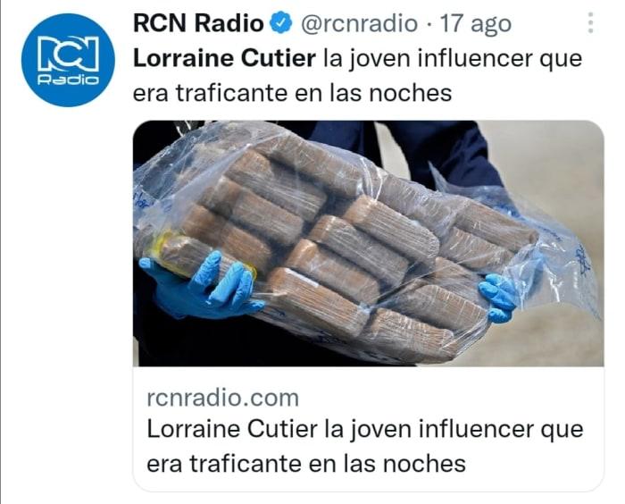 Influencer y narcotraficante