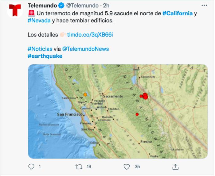 sismo 6 grados California