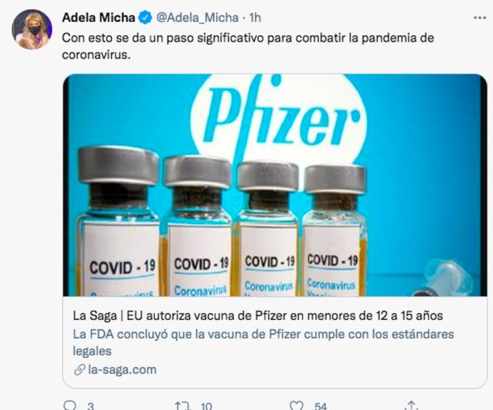 vacuna Pfizer 12 años