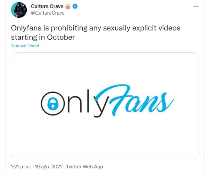OnlyFans prohíbe pornografía