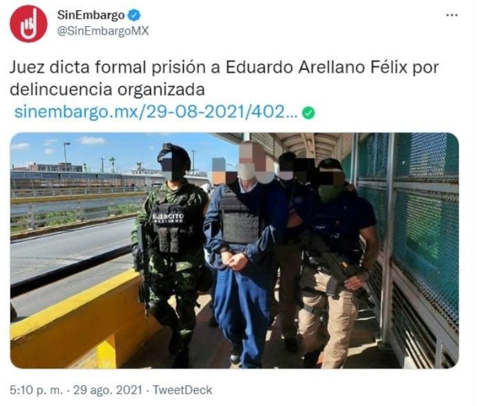 Sentencia Eduardo Arellano Félix