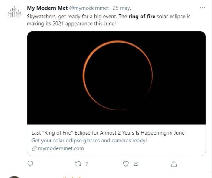El eclipse solar del 'anillo de fuego' será visible en EE.UU. el 10 de junio