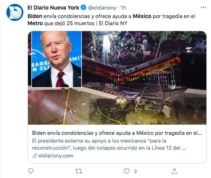 Biden accidente metro México