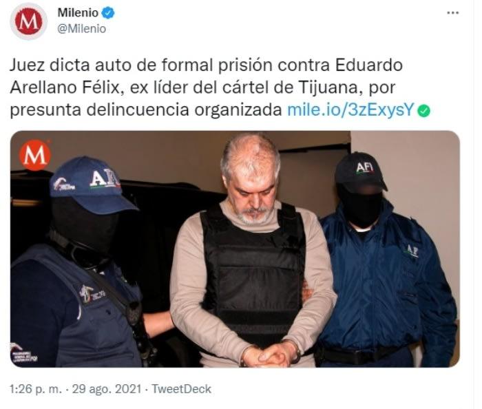 Judgment Eduardo Arellano Félix: Delivered to Mexico