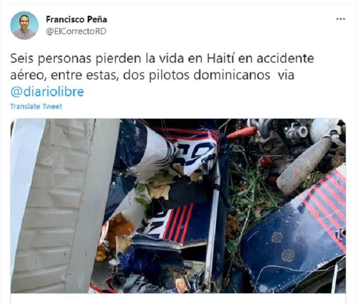 Mueren hispanos en terrible accidente aéreo