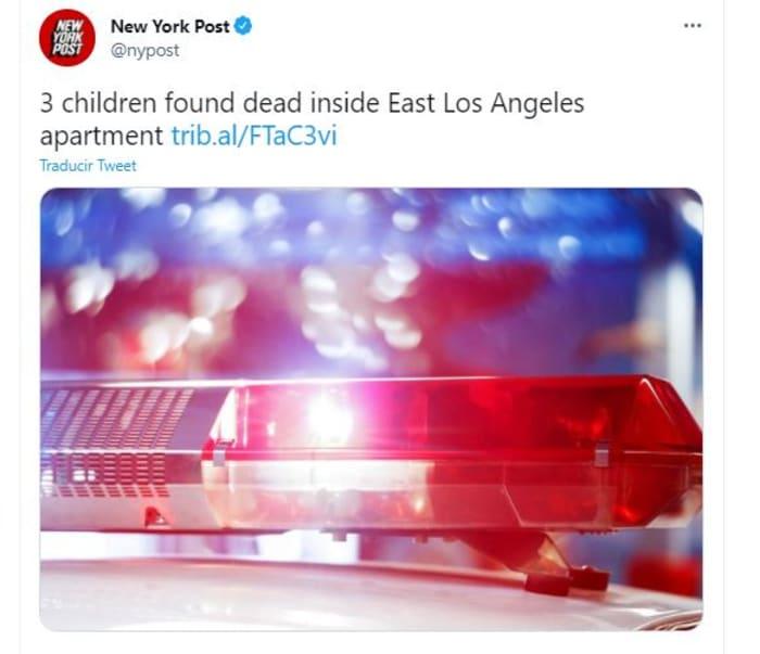 hallaron a tres niños muertos