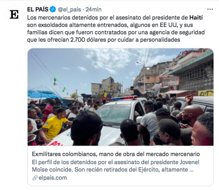 Christian Emmanuel Sanon: Policía trabaja con funcionarios colombianos