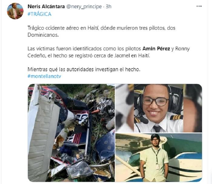Reaccionan a la muerte de hispanos en accidente aéreo