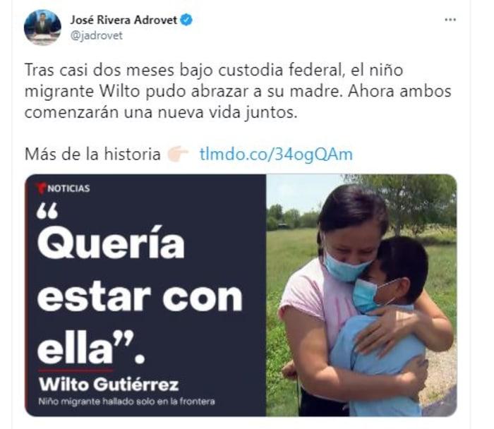 niño abandonado en frontera